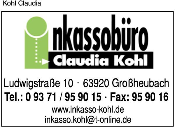 Kohl Claudia Inkassobüro Großheubach Main Profis Das Regionale