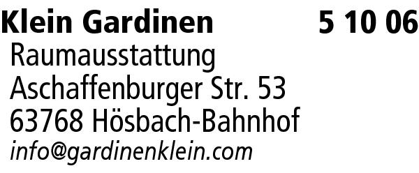 Klein Gardinen Raumausstattung | Aschaffenburg, Hösbach | Main